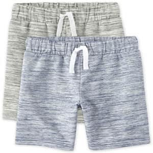 The Children's Place Boys Marled French Terry Shorts 2-Pack, Multi CLR, X-Large for $16