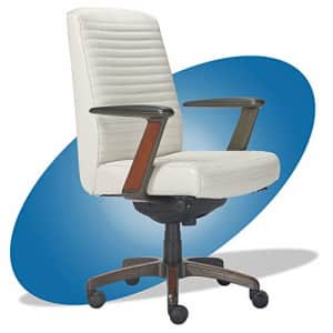 La-Z-Boy Emerson Modern Executive Office Chair with Rich Wood Inlay, Ergonomic High-Back Lumbar for $570