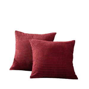 CaliTime Corduroy Throw Pillow Cover 2-Pack for $6