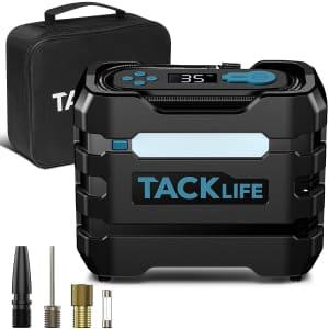 Tacklife 70-PSI 12V Digital Portable Air Compressor for $16