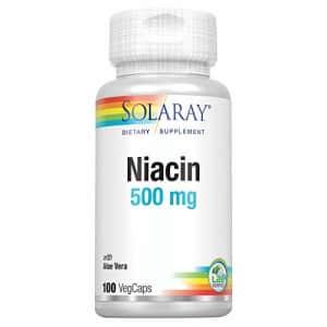 Solaray Niacin 500 mg, Vitamin B3 | Skin Health, Cardiovascular, Nervous System & Circulation for $9