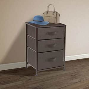 Sorbus Nightstand with 3 Drawers - Bedside Furniture & Accent End Table Chest for Home, Bedroom for $42