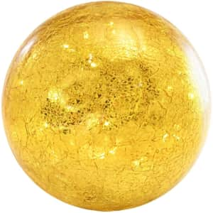 Lumabase Crackle Glass Globe Battery-Operated LED Light for $23