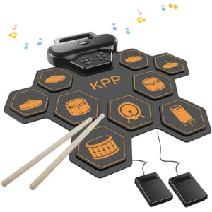 KPP 9-Pad Electronic Drum Set for $96