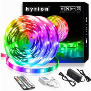 Hyrion 40-Foot LED Strip Lights for $16