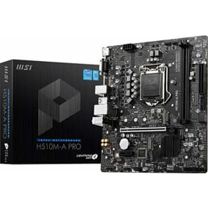 MSI H510M-A PRO ProSeries Motherboard (mATX, 11th/10th Gen Intel Core, LGA 1200 Socket, DDR4, PCIe for $139