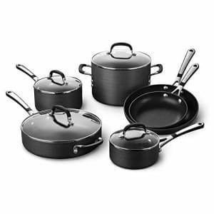 Calphalon Simply Pots and Pans Set, 10 Piece Cookware Set, Nonstick for $200