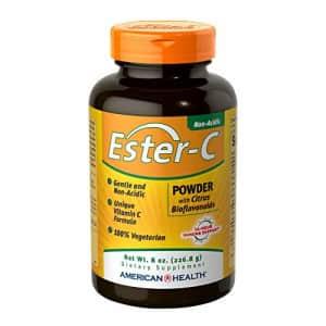 American Health Ester-C Powder with Citrus Bioflavonoids - Gentle On Stomach, Non-Acidic Vitamin C for $19