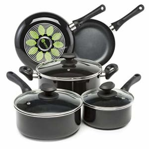 Ecolution Artistry Nonstick Cookware Set Pots and Pans, Dishwasher Safe, Scratch Resistant, With for $82