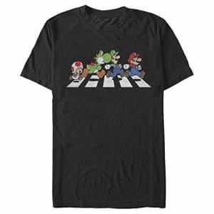 Nintendo Men's T-Shirt, Black, Small for $18