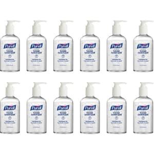 Purell Advanced Hand Sanitizer 8-oz. Pump Bottle 12-Pack for $24