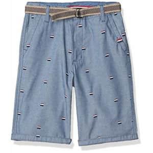 U.S. Polo Assn. US Polo Assn Boys' Casual Shorts, Printed Chambray Blue, 18 for $18