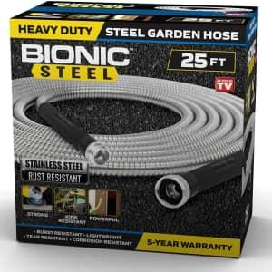 Bionic Steel 25-Ft. Heavy-Duty Stainless Steel Garden Hose for $18
