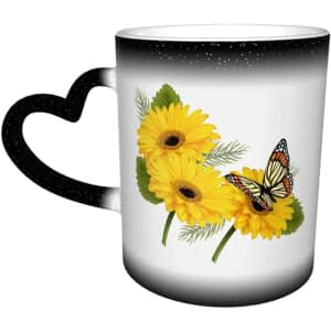 TGHJ Coloring Changing Ceramic Coffee Mug w/ Love Handle for $5