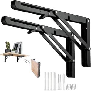 """Domisl 8"""" Folding Shelf Brackets 2-Pack for $9"""