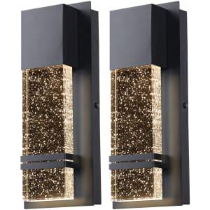 Partphoner 12-Watt LED Modern Wall Sconce 2-Pack for $65