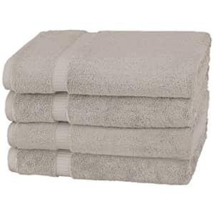 Amazon Brand Pinzon Organic Cotton Bath Towel, Set of 4, Marble Grey for $40