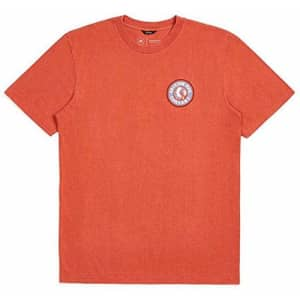 Brixton Men's Rival II Standard FIT Short Sleeve T-Shirt, Picante, S for $28