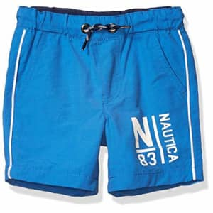 Nautica Boys' Mid-Length Pull on Shorts, Clear Skies, Small (8) for $17