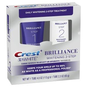 Crest 3D White Brilliance 2-Step Kit for $11