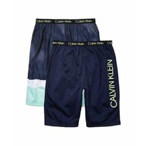 Calvin Klein Boys' Lounge Pajama Shorts, 2 Pack, Dipdye/Black Iris, X-Small-4/5 for $20