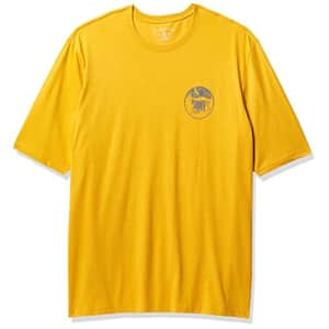 G.H. Bass & Co. Men's Big Short Sleeve Graphic Print T-Shirt, Mineral Yellow, 3X-Large Tall for $10