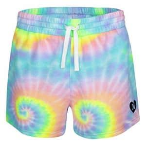 Hurley Kids Girls' Knit Pull On Shorts, Multi, LG (12-14 Big Kids) for $15