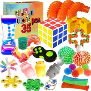 Kidcia 32-Piece Fidget Toy Set for $10