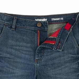 Wrangler Boys' Straight Fit Utility Short, Vintage Wash, 12 Husky for $13