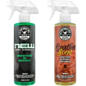 Chemical Guys 16-oz. New Car Scent and Leather Scent Combo Pack for $15