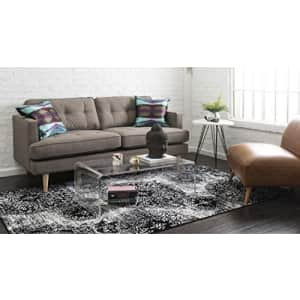 """Unique Loom Sofia Collection Traditional Vintage Area Rug, 2' 2"""" x 3', Black/Ivory for $12"""