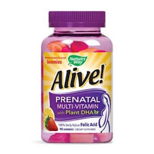 Nature's Way Alive! Prenatal Gummy Multivitamin with DHA, Fruit and Veggie Blend (50mg per for $11