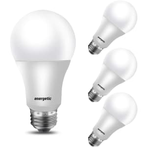 Energetic Smarter Lighting 100W-Equivalent A19 LED Light Bulb 4-Pack for $7