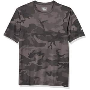 Champion Men's Short Sleeve Double Dry Performance T-Shirt, Stone Gray Camo, XX-Large for $13