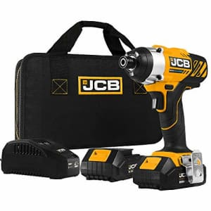 JCB Tools - JCB 20V Impact Drill Driver - Includes 2 x 2.0Ah Battery - 2.4A Charger (JCB-20ID-2) for $58