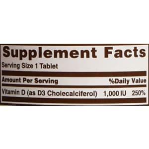Sundown Naturals Vitamin D3 1000 Iu, 120 Chewable Tablets for $6
