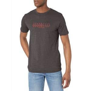Volcom Men's Position Short Sleeve T-Shirt, Heather Black, Medium for $28