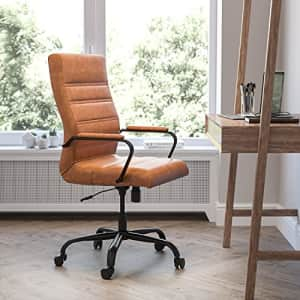 Flash Furniture High Back Desk Chair - Brown LeatherSoft Executive Swivel Office Chair with Black for $500