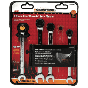 """Ace Hardware 7.5"""" Multiple Metric Gearwrench 4-Piece Set for $29"""