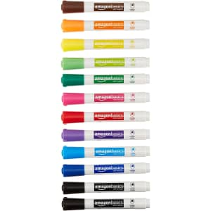 AmazonBasics Dry Erase White Board Markers 12-Pack for $8