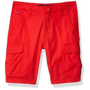 Tommy Hilfiger Boys' Cargo Pocket Short, High Risk Red, 16 for $27
