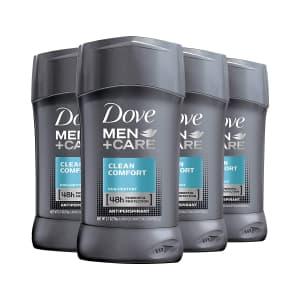 Dove Men+Care Clean Comfort Antiperspirant Deodorant 4-Pack for $9.65 w/ Sub & Save
