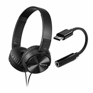 Sony MDR-ZX110NC Noise-Cancelling Headphones with Knox Gear Type-C to 3.5mm Headphone Adapter for $48