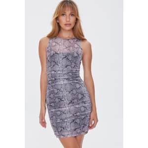 Forever 21 Women's Snake Print Mini Dress for $8
