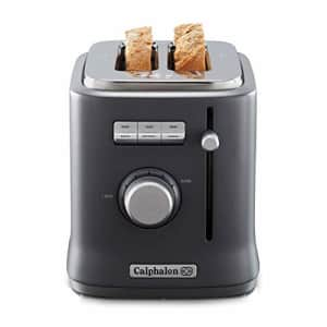Calphalon 2084021 Intellicrisp 2 Slice Toaster, Black (Renewed) for $43