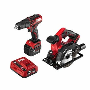 SKIL 2-Tool Combo Kit: PWRCore 12 Brushless 12V 1/2 Inch Cordless Drill Driver and 5-1/2 Inch for $116