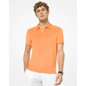 Michael Kors Men's Terry Polo Shirt for $44
