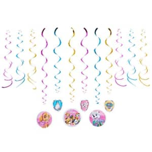 American Greetings Paw Patrol Party Supplies Hanging Swirl Decorations, 12-Count for $17