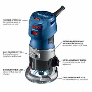 Bosch GKF125CEN Colt 1.25 HP (Max) Variable-Speed Palm Router Tool for $119