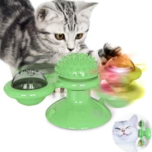 Mbtry Interactive Windmill Cat Toy for $6